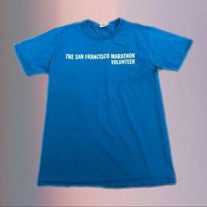 bogo 50% off ✰ san francisco marathon blue tshirt